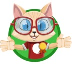 Kitten Cartoon Vector Character AKA Mew Catsby - Shape 3