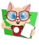 Kitten Cartoon Vector Character AKA Mew Catsby - Shape 4