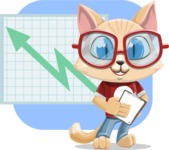 Kitten Cartoon Vector Character AKA Mew Catsby - Shape 6