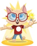 Kitten Cartoon Vector Character AKA Mew Catsby - Shape 8