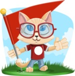 Kitten Cartoon Vector Character AKA Mew Catsby - Shape 9