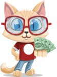 Kitten Cartoon Vector Character AKA Mew Catsby - Show me the Money