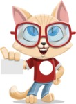 Kitten Cartoon Vector Character AKA Mew Catsby - Sign 1