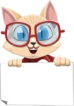 Kitten Cartoon Vector Character AKA Mew Catsby - Sign 4