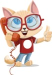 Kitten Cartoon Vector Character AKA Mew Catsby - Support