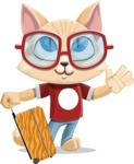 Kitten Cartoon Vector Character AKA Mew Catsby - Travel 1