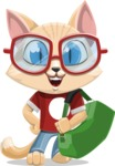 Kitten Cartoon Vector Character AKA Mew Catsby - Travel 2