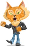 Wild Cat Businessman Cartoon Vector Character AKA Mr. Furrington - Angry