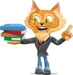 Wild Cat Businessman Cartoon Vector Character AKA Mr. Furrington - Book 2