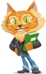 Wild Cat Businessman Cartoon Vector Character AKA Mr. Furrington - Book 3
