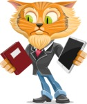 Wild Cat Businessman Cartoon Vector Character AKA Mr. Furrington - Book and iPad