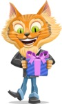 Wild Cat Businessman Cartoon Vector Character AKA Mr. Furrington - Gift