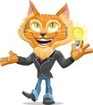 Wild Cat Businessman Cartoon Vector Character AKA Mr. Furrington - Idea 1