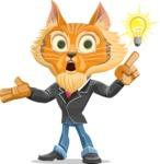 Wild Cat Businessman Cartoon Vector Character AKA Mr. Furrington - Idea 2