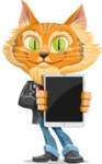 Wild Cat Businessman Cartoon Vector Character AKA Mr. Furrington - iPad 1