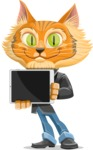 Wild Cat Businessman Cartoon Vector Character AKA Mr. Furrington - iPad 2