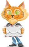 Wild Cat Businessman Cartoon Vector Character AKA Mr. Furrington - Letter