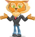 Wild Cat Businessman Cartoon Vector Character AKA Mr. Furrington - Lost