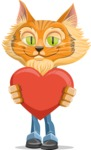 Wild Cat Businessman Cartoon Vector Character AKA Mr. Furrington - Love