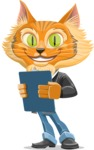 Wild Cat Businessman Cartoon Vector Character AKA Mr. Furrington - Notepad 2
