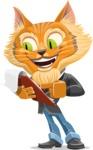 Wild Cat Businessman Cartoon Vector Character AKA Mr. Furrington - Notepad 3