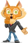 Wild Cat Businessman Cartoon Vector Character AKA Mr. Furrington - Oops