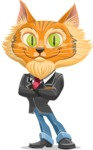 Wild Cat Businessman Cartoon Vector Character AKA Mr. Furrington - Patient