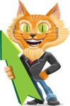 Wild Cat Businessman Cartoon Vector Character AKA Mr. Furrington - Pointer 1
