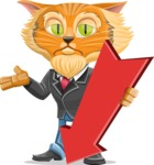 Wild Cat Businessman Cartoon Vector Character AKA Mr. Furrington - Pointer 3