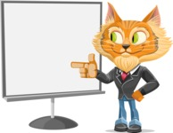 Wild Cat Businessman Cartoon Vector Character AKA Mr. Furrington - Presentation 2
