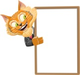 Wild Cat Businessman Cartoon Vector Character AKA Mr. Furrington - Presentation 4