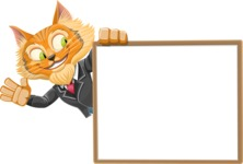 Wild Cat Businessman Cartoon Vector Character AKA Mr. Furrington - Presentation 5