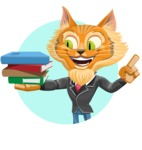 Wild Cat Businessman Cartoon Vector Character AKA Mr. Furrington - Shape 1