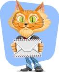 Wild Cat Businessman Cartoon Vector Character AKA Mr. Furrington - Shape 11