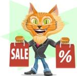 Wild Cat Businessman Cartoon Vector Character AKA Mr. Furrington - Shape 12