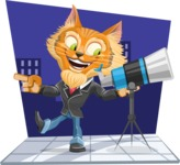 Wild Cat Businessman Cartoon Vector Character AKA Mr. Furrington - Shape 5