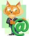 Wild Cat Businessman Cartoon Vector Character AKA Mr. Furrington - Shape 7