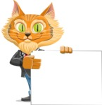 Wild Cat Businessman Cartoon Vector Character AKA Mr. Furrington - Sign 8