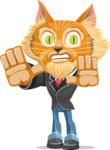 Wild Cat Businessman Cartoon Vector Character AKA Mr. Furrington - Stop 2
