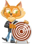 Wild Cat Businessman Cartoon Vector Character AKA Mr. Furrington - Target
