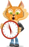 Wild Cat Businessman Cartoon Vector Character AKA Mr. Furrington - Time is Yours