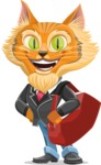 Wild Cat Businessman Cartoon Vector Character AKA Mr. Furrington - Travel 2