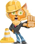 Wild Cat Businessman Cartoon Vector Character AKA Mr. Furrington - Under Construction 1