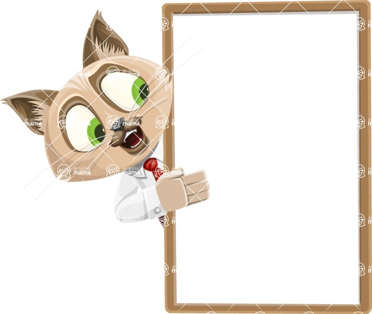 Business Cat Cartoon Vector Character AKA Tom Catson - Presentation 4