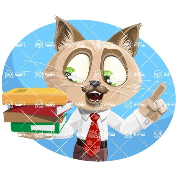 Business Cat Cartoon Vector Character AKA Tom Catson - Shape 1