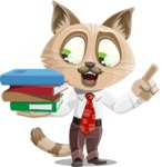 Business Cat Cartoon Vector Character AKA Tom Catson - Book 2