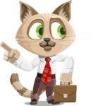 Business Cat Cartoon Vector Character AKA Tom Catson - Briefcase 2
