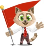 Business Cat Cartoon Vector Character AKA Tom Catson - Checkpoint