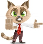 Business Cat Cartoon Vector Character AKA Tom Catson - DirectAttention 2