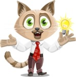 Business Cat Cartoon Vector Character AKA Tom Catson - Idea 1